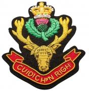 Cuidich'N Righ  Blazer Badge