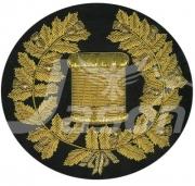 Drum/Pipe Major Band Gold Bullion Blazer Badge