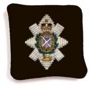 Embroidery Silver Bullion Wire Pillow Crest