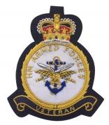 HM VETERAN Navy Blazer Badge