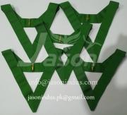 Masonic Collar Plain Fars Green