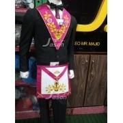 Masonic Rose Croix 18th Degree Handmade Embroidery Apron & Collar