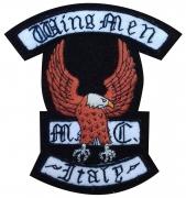 MC Wingmen Motorcycle Club  Badge
