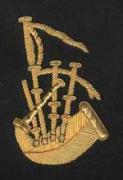Scottish Major Pipe Band Blazer Badge